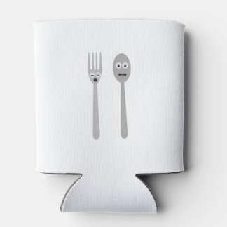 Spoon and Fork Kawaii Zqdn9 Can Cooler