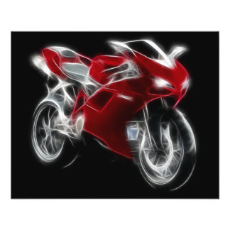 Sport Bike Racing Motorcycle 11.5 Cm X 14 Cm Flyer