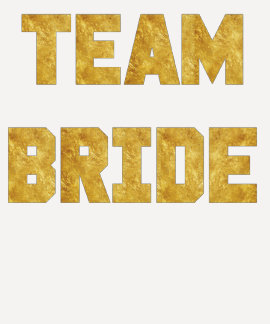 Sport Team Bride Raglan Shirt Gold Foil