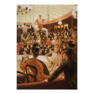 Sporting Ladies (or Circus Lover) by James Tissot Poster