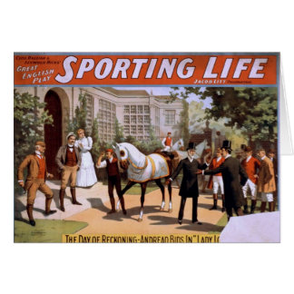 Sporting Life, 'Lady Luck Wins the Derby' Retro Th Greeting Cards