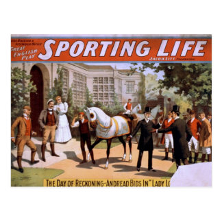 Sporting Life Lady Luck Wins the Derby Retro Th Post Cards