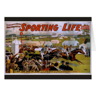 Sporting Life, 'Lady Luck Wins the Derby' Vintage Card