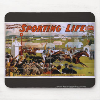 Sporting Life, 'Lady Luck Wins the Derby' Vintage Mouse Pads