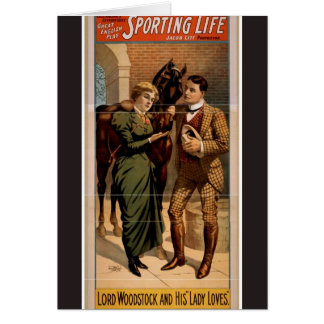 Sporting Life, 'Lord Woodstock and his Lady Loves' Card