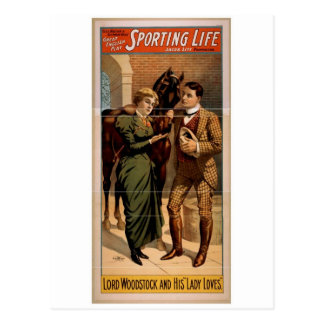 Sporting Life Lord Woodstock and his Lady Loves Postcards