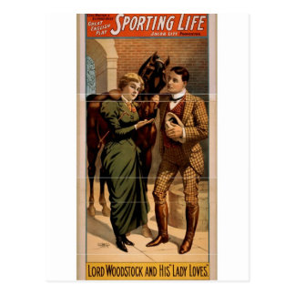 Sporting Life, 'Lord Woodstock and his Lady Loves' Postcard