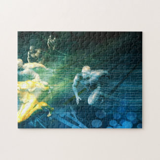 Sports Club for Competitive Sport Training Jigsaw Puzzle