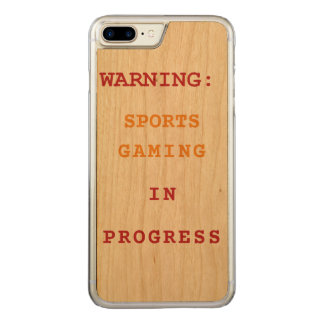 Sports Gaming In Progress Carved iPhone 7 Plus Case