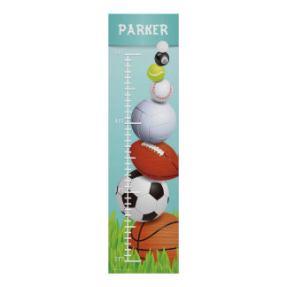 Sports Growth Chart Poster