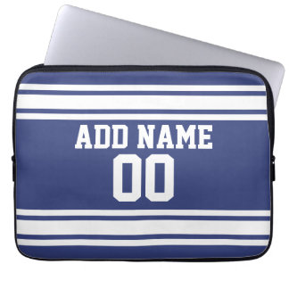 Sports Jersey with Custom Name and Number Computer Sleeves