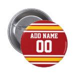 Sports Team Football Jersey Custom Name Number Badges
