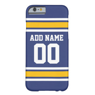 Sports Team Jersey with Custom Name and Number Barely There iPhone 6 Case