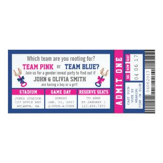 Sports Ticket Gender Reveal Invitation, Baseball 10 Cm X 24 Cm Invitation Card