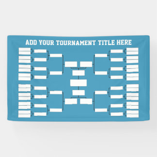 Sports Tournament Bracket - can change back color Banner