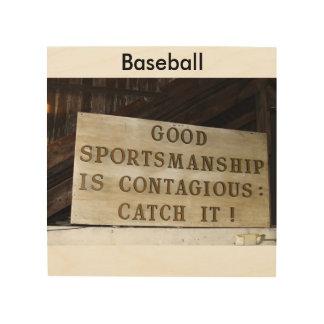 Sportsmanship Wood Canvas