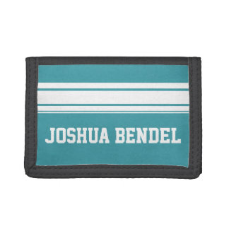 Sporty Stripes Personalised Kids Boys Wallet