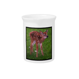 Spotted Fawn Walks Pitcher