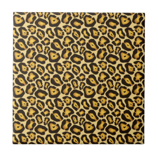 Spotted Jaguar Camouflage Pattern Small Square Tile