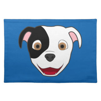 Spotted Pitbull Face Placemat