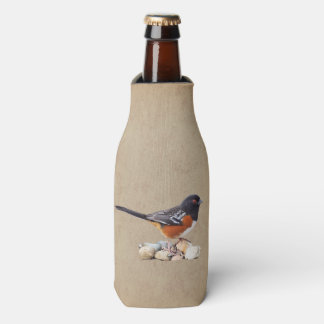 SPOTTED TOWHEE BOTTLE COOLER