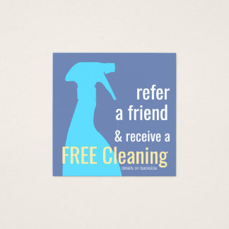 Spray Bottle House Cleaning Customer Referral Card