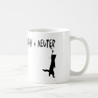 """SPrAY + NEUTER"" Basic White Mug"