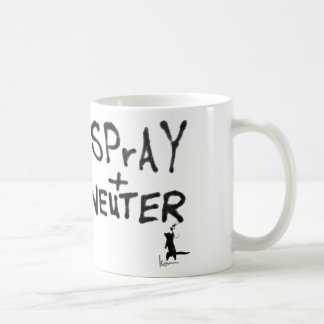 """""""SPrAY + NEUTER"""" No. 2 Basic White Mug"""