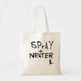 """""""SPrAY + NEUTER"""" No. 2 Budget Tote Bag"""