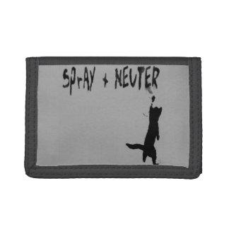 """""""SPrAY + NEUTER"""" Tri-fold Wallet"""