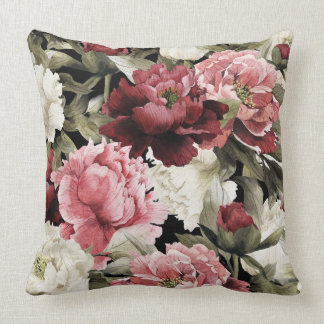 Spray of Roses Floral Decorative Pillow