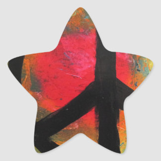Spray Paint Art Rainbow Peace Sign Painting Star Sticker