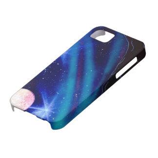 Spray paint galaxy case