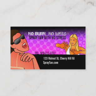 Spray tanning business cards zazzle nz spray tan business cards reheart Gallery