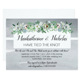 Sprays of Flowers After Wedding Party Card