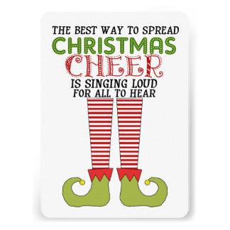 Spread Christmas Cheer Elf Party Invitation