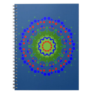 Sprial Notebook with Holiday Blue and Mandala