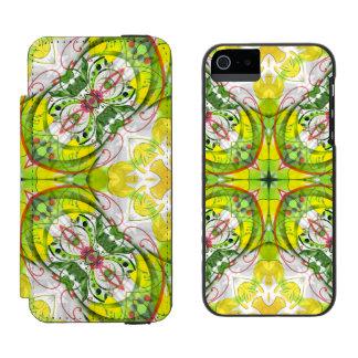 Spring Abstract in Green & Yellow Incipio Watson™ iPhone 5 Wallet Case