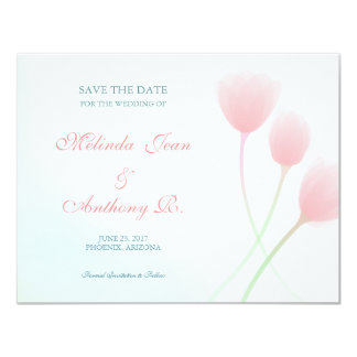 Spring Beauty Save the Date 4.25 x 5.5 Card