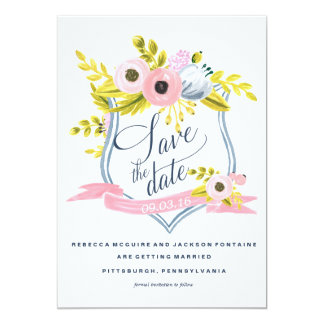 SPRING BLOOM PAINTED FLORAL Save the Date Card