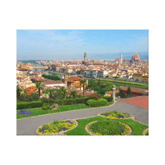 Spring blooms in Florence Canvas Print