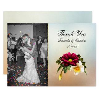 Spring Blooms Photo Wedding Thank You Card 13 Cm X 18 Cm Invitation Card