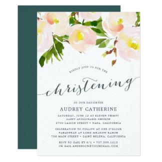 Spring Blush | Christening Invitation