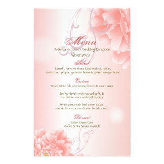 Spring Botanical  pink peony wedding Stationery