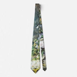 Spring Bouquet by Pierre Renoir, Vintage Flowers Tie