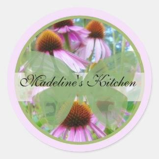Spring Butterfly Label1 Round Sticker