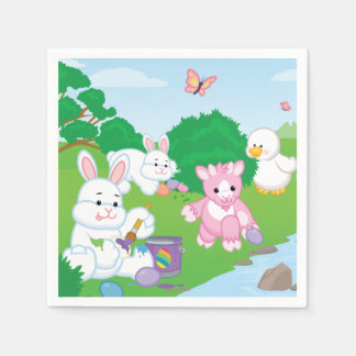Spring Celebration Egg Hunt Disposable Napkin