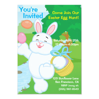 "Spring Celebration Egg Hunt 5"" X 7"" Invitation Card"