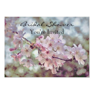 "Spring Cherry Blossoms Bridal Sakura Invitation 5"" X 7"" Invitation Card"
