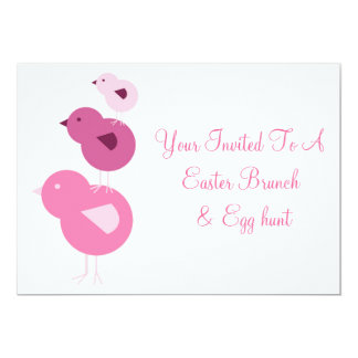 Spring Chickens Easter Template Invitations